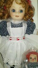 Franklin Heirloom Doll 75th Anniversary Annie And Raggedy Ann