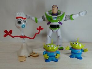 Toy Story Buzz Lightyear and Aliens and walking Sporky Wind up Toy Movie Disney