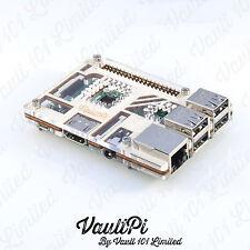 Wood & claro caso de acrílico para Raspberry Pi 3 Modelo B vaultpi