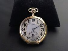 Illinois Bunn Special Railroad Pocket Watch 14kt Solid Gold Case 21 Jewels