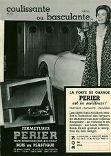 Publicité ancienne fermeture garage Périer 1970 issue de magazine