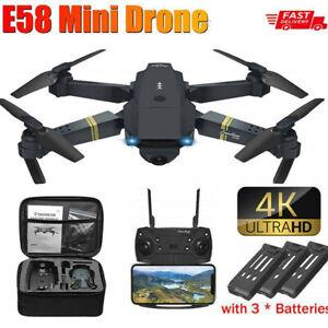 E58 Faltbar WIFI FPV Drohne 4K HD Dual Kamera Mini Selfie Quadrocopter RC Drone