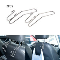 2PCS Metal Multi-functional Car Seat Hook Auto Headrest Hanger Bag Holder Clips