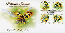 Pitcairn Islands 2017 FDC Transverse Ladybird 4v Cover Ladybirds Beetles Stamps