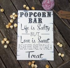 Distressed chic Shabby Popcorn Bar personalised wedding sign gift