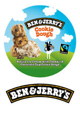 """Ben & Jerry's Ice Cream cake decoration 7.5"""" ICING WAFER edible cake topper"""