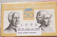 1996 Australia $50 Note Deluxe Low Numbered Folder Cat $440 SCARCE AA 96 00 3559