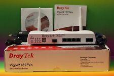 DRAYTEK Vigor 2132FVn Fiber VoIP WLAN Router VPN 4-Port Gigabit Funk Glasfaser
