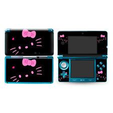 Black Hello Kitty Skin DECAL Sticker Cover case for Nintendo original 3DS -75
