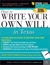 How to Write Your Own Will in Texas (Legal Survival Guides), Rolcik, Karen, Ward