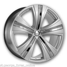 19 INCH MANIA SAVOY SILVER RETRO STYLE WHEELS AND TYRES BMW 5 SERIES 20+ OFFSET