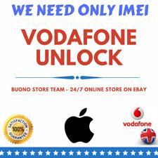 IMEI VODAFONE UK FACTORY UNLOCK SERVICE CODE for iPhones 4/4s/5/5s/5c/SE/6/6s/7+