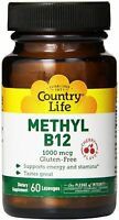 Methyl B-12 by Country Life, 60 lozenges 1000 mcg