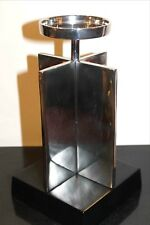 Modern Brutalist Crossed Mirror / Metal Slabs Candle Holder, Candle Tower