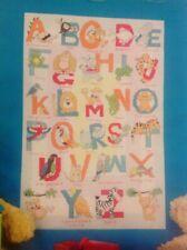 (P) Jungle Animals Alphabet ABC Nursery Sampler Cross Stitch Chart