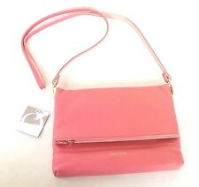 New OROTON Bueno Flap Over Bag Clutch Crossbody Handbag Peach Leather RRP$395