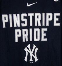 5e6e4d534 NIKE NEW YORK YANKEES MLB OFFICIAL TEAM LOCAL PHRASE NAVY BLUE ADULT T-SHIRT  NWT