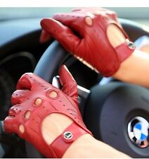 Soft sheepskin Leather Driving Gloves for women