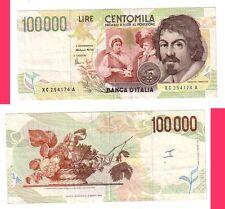 Italia 100000  lire 1994 Caravaggio II tipo sostitutivo XC pick 117 b  BB Fine