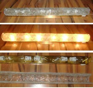 90 cm !! Hillebrand Wandlampe Spiegelleuchte 70er 1979 Kalmar-Eisglas ? Murano ?