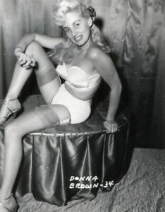 Vintage Photo 8.5x11 #17960  Busty Lovely 1950s Donna Brown Posing