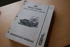 GEHL OPERATOR MANUAL 480 Wheel LOADER Front End owner operation book guide pay