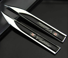 2pcs for Cadillac Black 3D Side Fender Emblem Badge Decal Sticker Logo