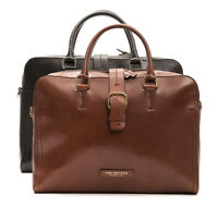 "Cartella Ventiquattrore THE BRIDGE borsa porta Pc 14"" apertura zip pelle leather"