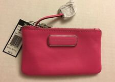 Marc by Marc Jacobs Ligero Pink Leather Key Pouch Wallet Zip M0005385 Case NWT