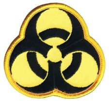 Biohazard Patch - Biological Hazard, Toxic, Dangerous Material (Iron on)