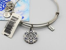 Alex and Ani Snowflake Bracelet 2016 Holiday Special Edition Silver-Tone Bangle