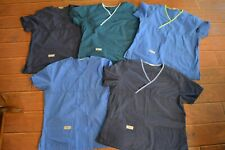New listing 5 Prs Urbane Scrubs Shirt Tops,Large,Blue,Teal,Preo wned Cond