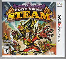 Code Name: S.T.E.A.M. (Nintendo 3DS, 2015) **NEW**