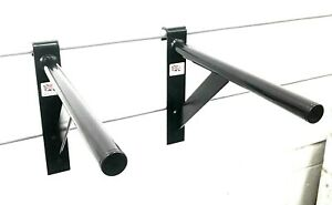 Mountable Dip Bars for Power Rack and Smith Machine Sports Fitness Athletics