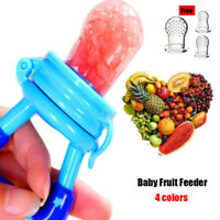 1pc Baby Fruit Feeder Pacifier with Three Free Nipples Teether Soother Nibbler