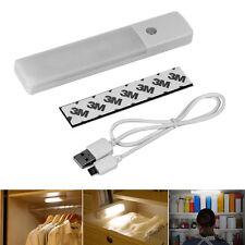 6LED USB Rechargeable Wireless Motion Sensor Nightlight Closet Wall Lamp Bulb