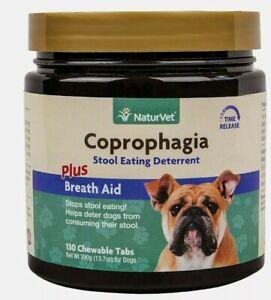 NaturVet Coprophagia Stool Eating Deterrent + Breath Aid, 130 Chew Tabs, 11/2023