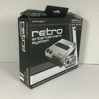Retro-Bit Retro Entertainment System for NES Games | Silver & Black | Used CIB