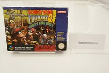 SNES Super Nintendo Donkey Kong Country 2: Diddy's Kong Quest CIB FAH #3