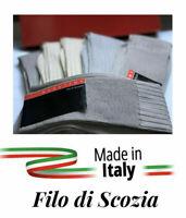 6 PAIA CALZE LUNGHE UOMO COTONE FILO SCOZIA di ottima qualità made in Italy