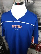 Nike Team Mens XL New York Knicks Short Sleeve Jersey Shirt NYK NBA Blue Orange