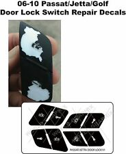 Replacement Door Lock Button Stickers For 2006-2010 VW Jetta Passat Golf New USA