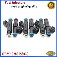 6PCS OEM Fuel Injectors 0280158020 For Jeep Liberty Dodge Dakota Mitsubishi 3.7