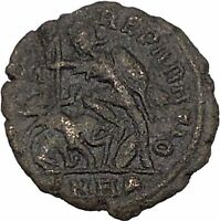 CONSTANTIUS II Constantine the Great son Ancient Roman Coin Battle Horse i42786