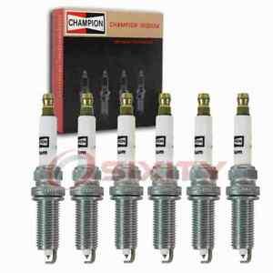6 pc Champion Iridium Spark Plugs for 2014-2019 Infiniti Q50 3.5L V6 pn