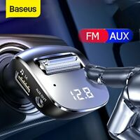 Baseus Auto AUX FM Radio Transmitter Bluetooth 5.0 MP3 Player Ladegerät Kit KFZ