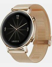 Huawei Watch GT2 42mm Elegant Edition Gold & Sportarmband scharz