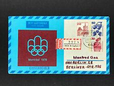 Luftpost Privatganzsache Unfallverhütung Einschreiben St. Ingbert - Berlin 1979