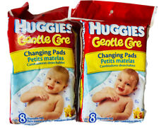 Huggies Gentle Care 8 Count Disposable Changing Pads Compact proof Set of 2