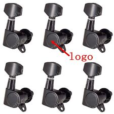 1 Set 6R Black Guitar Tuning Pegs keys Tuners Machine Heads For Electric Guitar